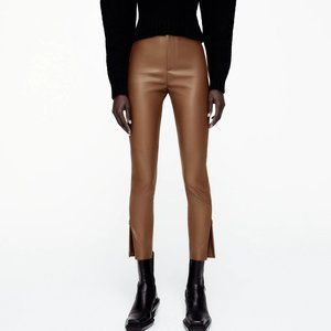 ZARA High Rise Leather Leggings